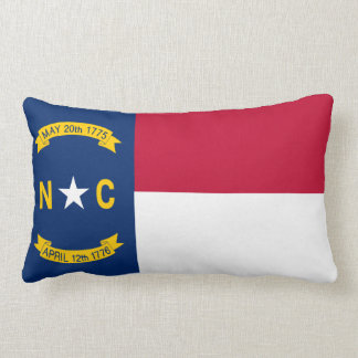 North Carolina State Flag Lumbar Pillow