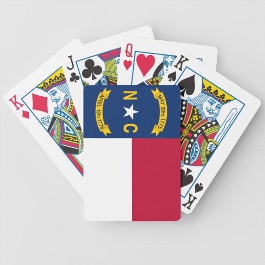 North Carolina State Flag Poker Deck