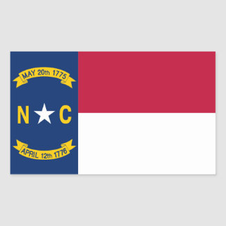 North Carolina State flag Sticker