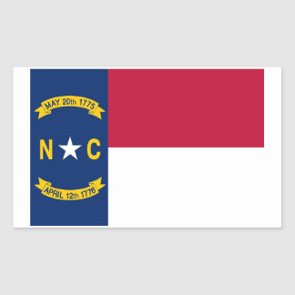 North Carolina State Flag Sticker - 4 per sheet