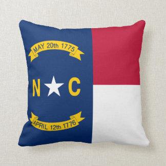 North Carolina State Flag Throw Pillow