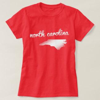 North Carolina state in white T-Shirt