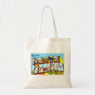 North Carolina State NC Vintage Travel Postcard- Tote Bag