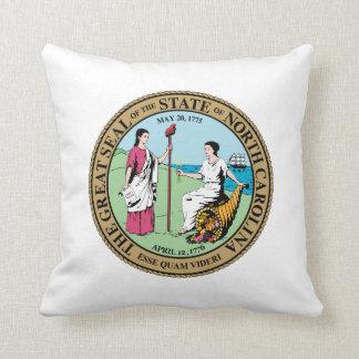 North Carolina state seal america republic symbol Throw Pillow