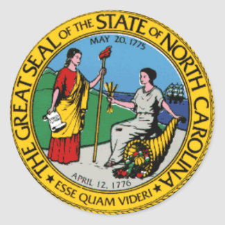 North Carolina State Seal Stickers