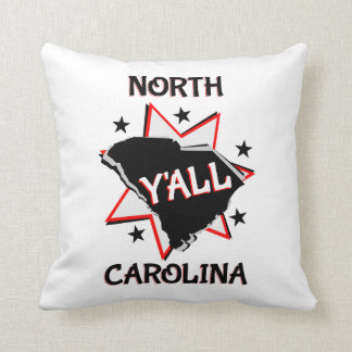 North Carolina State Y'all Throw Pillow