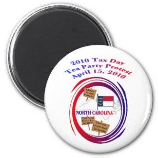 North Carolina Tax Day Tea Party Protest 2 Inch Round Magnet