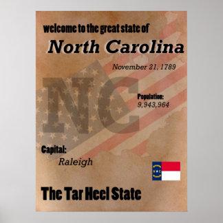 North Carolina The Tar Heel State Classic Poster