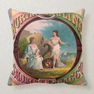 North Carolina Tobacco Ad 1879 Throw Pillow