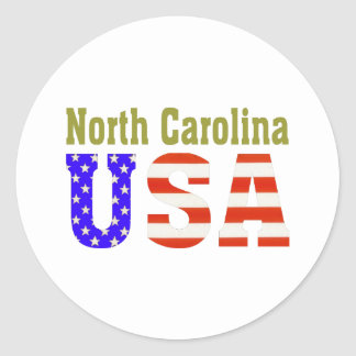 North Carolina USA! Round Sticker