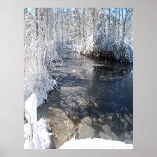 North Carolina Winter Creek Print