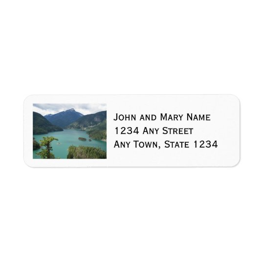 North Cascades Diablo Lake Return Address Label
