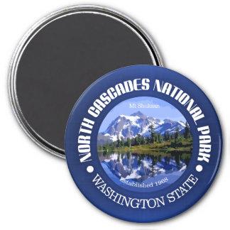 North Cascades National Park 3 Inch Round Magnet
