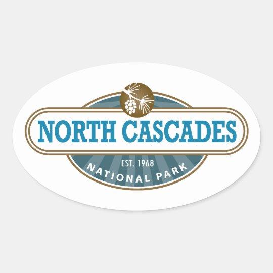 North Cascades National Park Oval Sticker