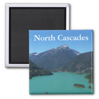 North Cascades Photo Square Magnet