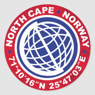 NORTH CASTRATES SPECIAL NORWAY CLASSIC ROUND STICKER