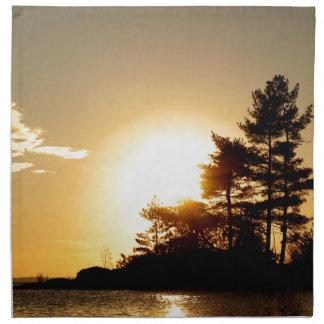 North Channel Sunset Napkin