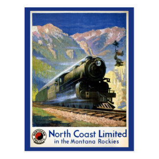 North Coast Limited Vintage Travel Poster Restored Postcard