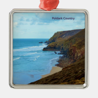 North Cornish Coast Poldark Country Cornwall UK Metal Ornament