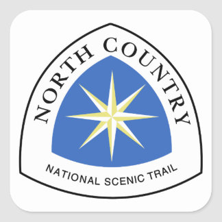 North Country Trail Sign, USA Square Sticker