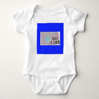 """North Dakota 4 Life"" State Map Pride Design Baby Bodysuit"