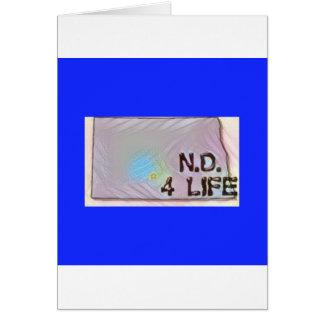 """North Dakota 4 Life"" State Map Pride Design Card"