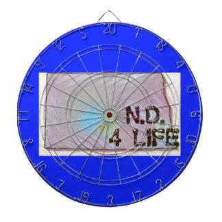 """""""North Dakota 4 Life"""" State Map Pride Design Dartboard"""