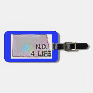 """North Dakota 4 Life"" State Map Pride Design Luggage Tag"
