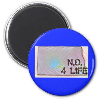 """North Dakota 4 Life"" State Map Pride Design Magnet"