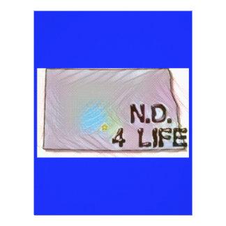 """""""North Dakota 4 Life"""" State Map Pride Design Personalized Letterhead"""