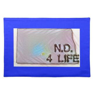 """North Dakota 4 Life"" State Map Pride Design Placemat"