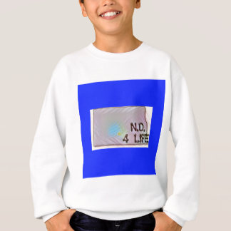 """North Dakota 4 Life"" State Map Pride Design Sweatshirt"