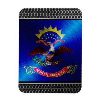 North Dakota brushed metal flag Vinyl Magnet