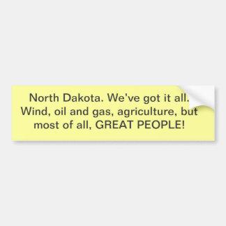 North Dakota bumper sticker
