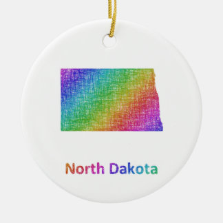 North Dakota Ceramic Ornament