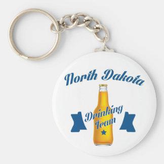 North Dakota Drinking team Basic Round Button Keychain