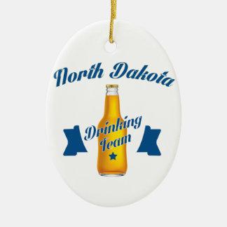 North Dakota Drinking team Ceramic Ornament