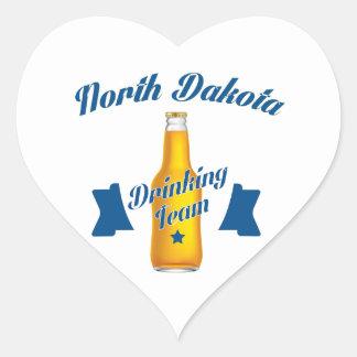 North Dakota Drinking team Heart Sticker