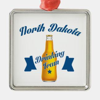 North Dakota Drinking team Metal Ornament