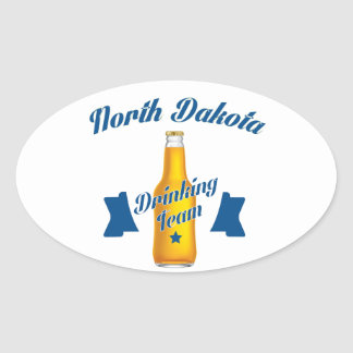 North Dakota Drinking team Oval Sticker