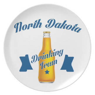 North Dakota Drinking team Plate