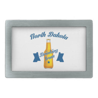 North Dakota Drinking team Rectangular Belt Buckle