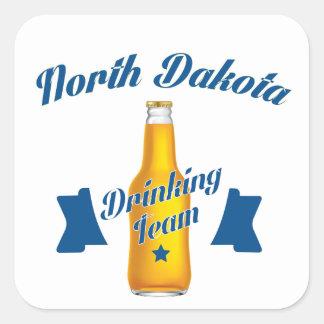 North Dakota Drinking team Square Sticker
