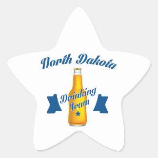 North Dakota Drinking team Star Sticker