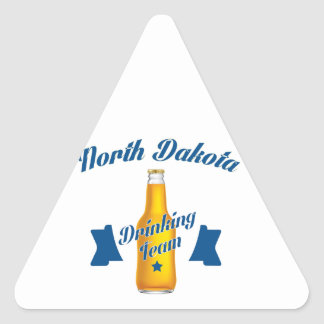 North Dakota Drinking team Triangle Sticker