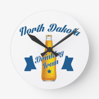 North Dakota Drinking team Wall Clocks