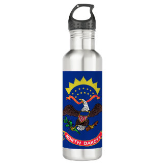 North Dakota Flag 710 Ml Water Bottle