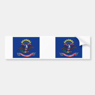 North Dakota Flag Bumper Stickers