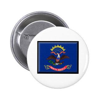North Dakota Flag Pinback Buttons
