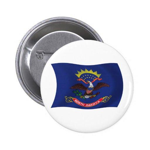 North Dakota Flag Button